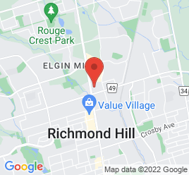 Google Map of 10801+Yonge+Street%2CRichmond+Hill%2COntario+L4C+3E3