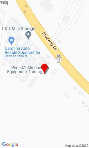 Google Map of Penn McMichael Equipment Trading 1081 Freeway Drive, Reidsville, NC, 27320
