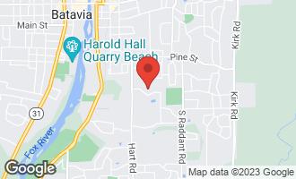 Map of 1081 Weston Circle BATAVIA, IL 60510