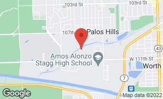 Map of 10845 South 84th Avenue 3A PALOS HILLS, IL 60465
