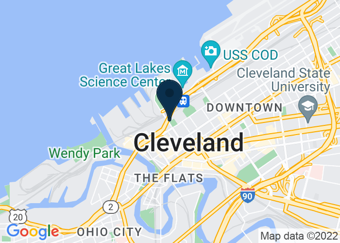 Map of 1085 W 3rd Street, Cleveland, OH 44114, United States