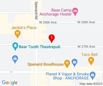 Google Map of 1087 w 27th Ave, Anchorage, AK