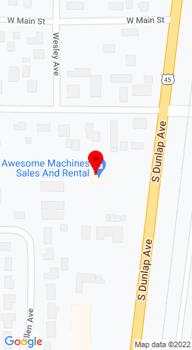 Google Map of Awesome Machines 109 South Dunlap Route 45, Savoy, IL, 61874