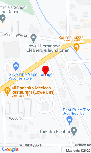 Google Map of Hardings Heavy Equipment 109 W Commercial Avenue, Lowell, IN, 46356