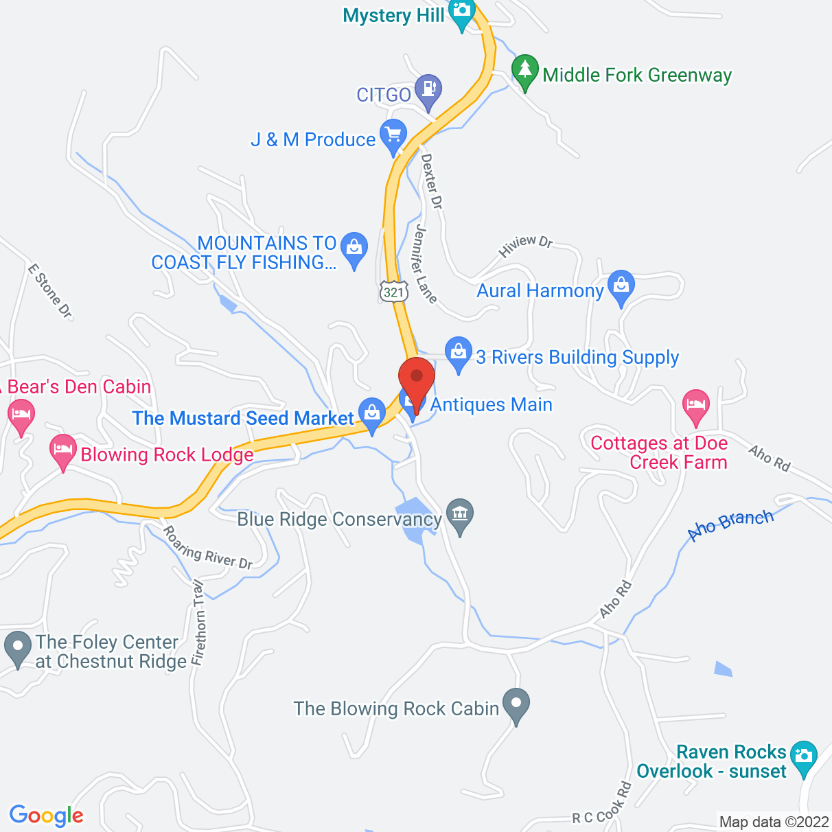 109 Aho Rd., Suite 3, Blowing Rock, NC United States 28605