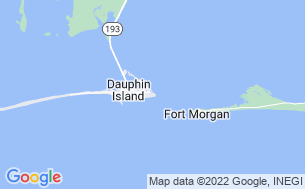 Map of Dauphin Island Campground