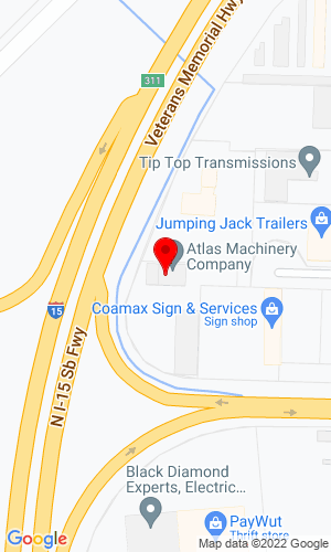 Google Map of Atlas Machinery Company 1090 W 2180 N, Salt Lake City, UT, 84116