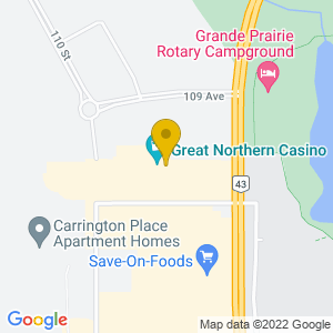 Map to Great Northern Casino provided by Google