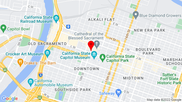Google Map of 10th Street and Capitol Avenue, Sacramento, CA 95811
