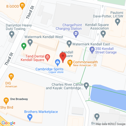 Map of the area around Commonwealth Restaurant and Market