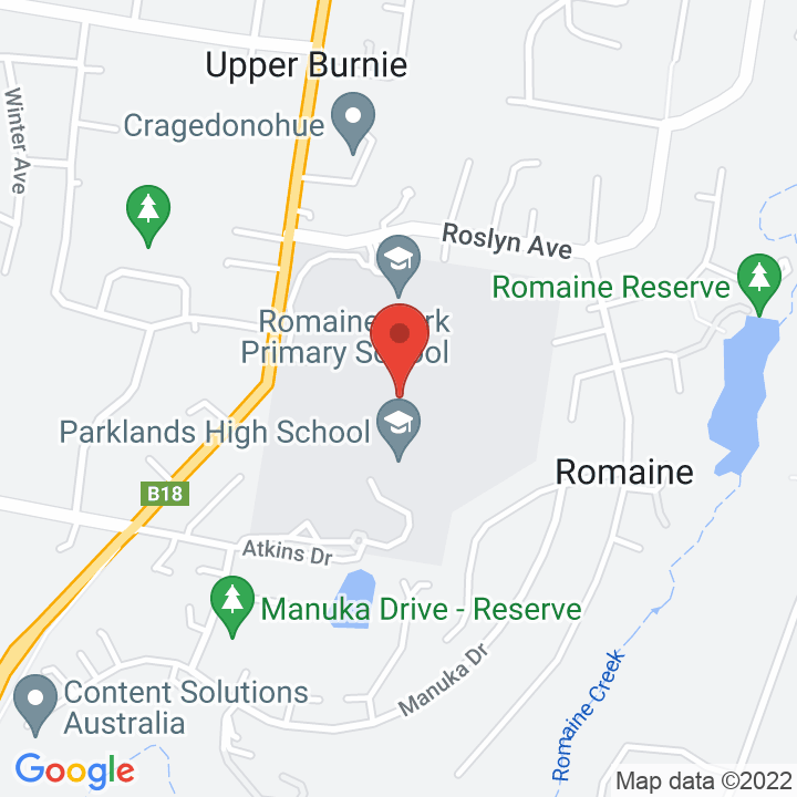 A Google map of the institution's location