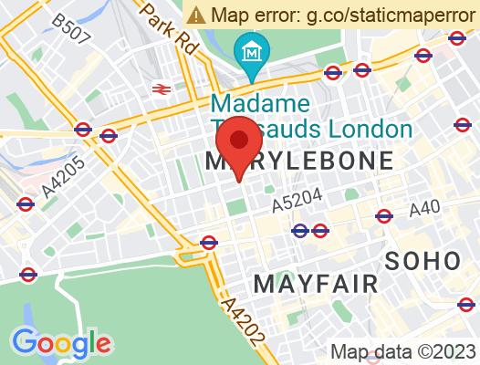 Google Map of 11 Baker Street, London W1U 3AH, Vereinigtes Königreich