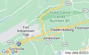 Map of Jonestown KOA