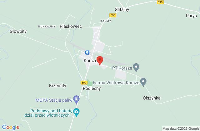 Wyświetl Miejsko-Gminna Biblioteka Publiczna w Korszach na mapie