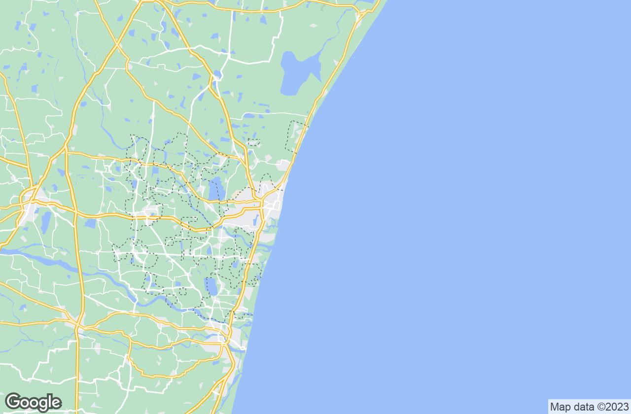 Google Map of Pondicherry