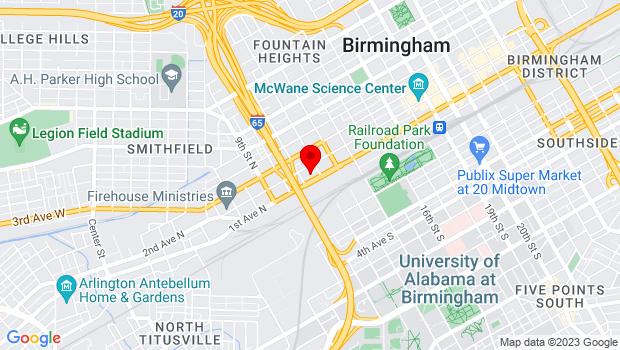 Google Map of 110 12th St N #100, Birmingham, AL 35203
