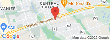 Google Map of 110+Bloor+Street+East%2COshawa%2COntario+L1H+3M2