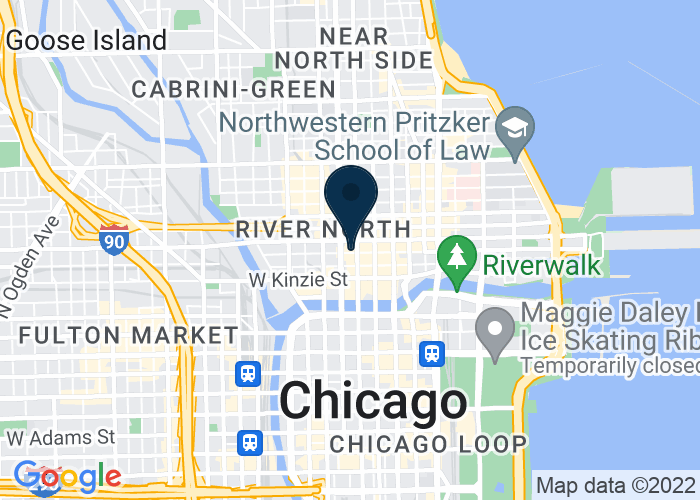 Map of 110 W. Illinois, Chicago, IL 60654, United States