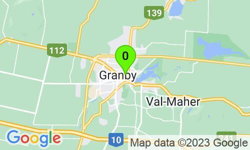 Carte du 110, rue Court, Granby, J2G 4Y9, Québec