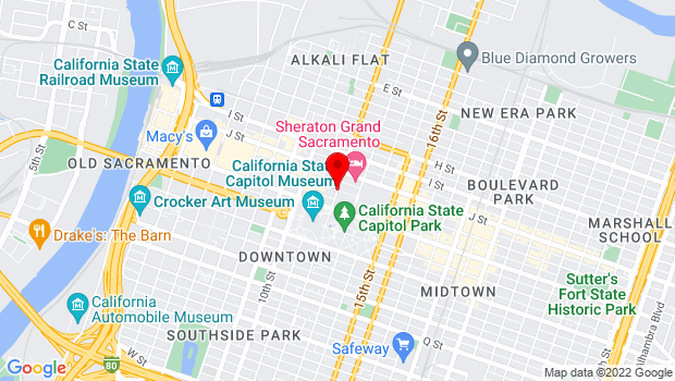 Google Map of 1100 12th Street, Sacramento, CA 95814