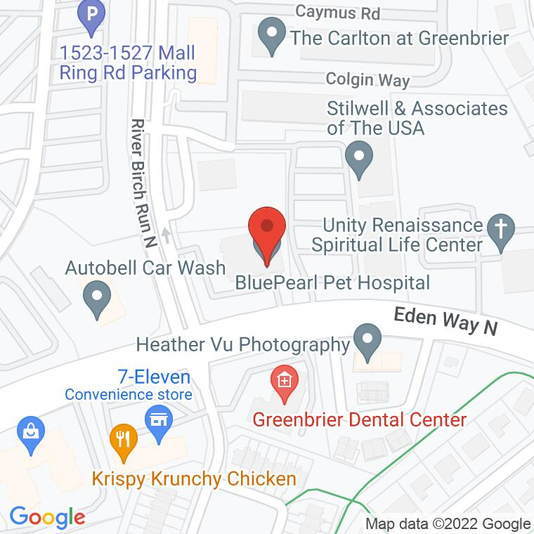 Google Map of 1100 Eden Way North<br> Suite 101, Chesapeake, VA 23320, 1100 Eden Way North<br> Suite 101, Chesapeake, VA 23320