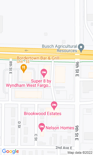 Google Map of 1100 West Main Avenue+West Fargo+ND+58078