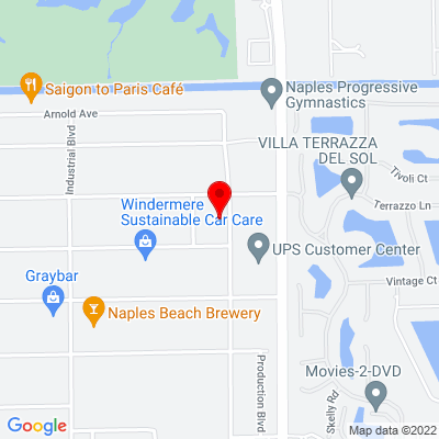 Google Map of 1100 Commercial Blvd Naples, FL 34104