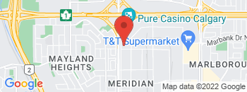 Google Map of 1100+MERIDIAN+ROAD+NE%2CCalgary%2CAlberta+T2A+2N9