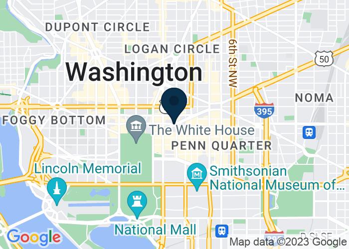 Map of 1100 New York Ave. NW, Washington, DC 20005