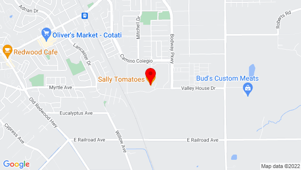 Google Map of 1100 Valley House Drive, Rohnert Park, CA 94928