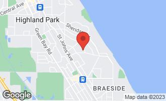Map of 1100 Linden Avenue HIGHLAND PARK, IL 60035