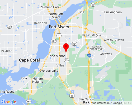 Google Map of 11000 Metro PKWY Suite 17 Fort Myers, Florida 33966