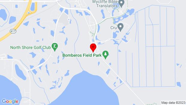 Google Map of 11002 Lake Hart Drive, Orlando, FL 32832