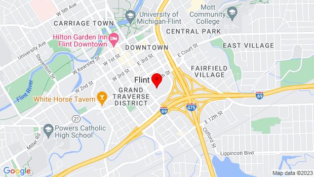 Google Map of 1101 S. Saginaw St., Flint, MI 48502