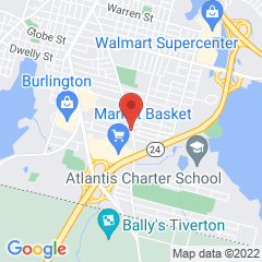 Map marking location of Fall River branch