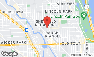 Map of 1101 West Armitage Avenue #210 CHICAGO, IL 60614