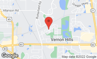 Map of 1102 Emerson Place VERNON HILLS, IL 60061