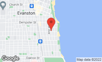 Map of 1104 Michigan Avenue EVANSTON, IL 60202
