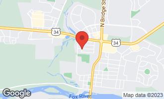 Map of 1104 Prairie Lane YORKVILLE, IL 60560