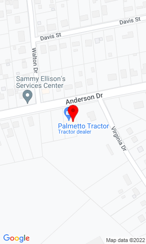 Google Map of Palmetto Equipment Sales, Inc. 1105 Anderson Drive, Williamston, SC,