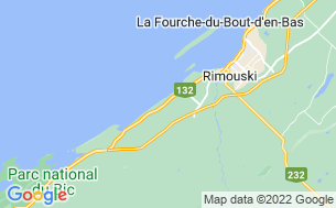 Map of Camping Rimouski
