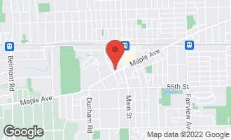Map of 1108 Maple Avenue DOWNERS GROVE, IL 60515
