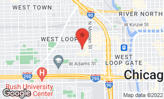 Map of 1109 West Washington Boulevard 3D Chicago, IL 60607