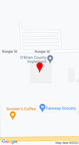 Google Map of O'Brien County Implement 111 Country Club Road, Sheldon, IA, 51201