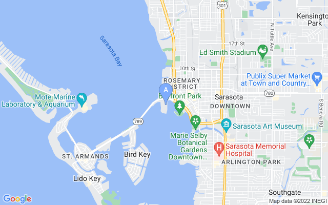 111 Golden Gate Pt #ph-601 Sarasota Florida 34236 locatior map