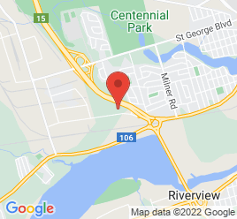 Google Map of 111+Baig+Boulevard%2CMoncton%2CNew+Brunswick+E1C+8T6