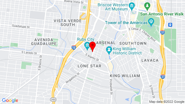 Google Map of 111 Camp Street, San Antonio, TX 78204