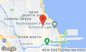 Map of 111 East Chestnut Street 52J CHICAGO, IL 60611