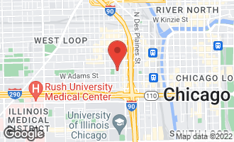 Map of 111 South Peoria Street PH01 CHICAGO, IL 60607