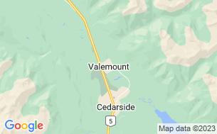Map of Valemount Pines Golf Club, RV Park & Campground